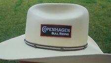"COPENHAGEN BULL RIDERS  ADHESIVE HAT PATCH CLOTH 3.25""X2.25"""