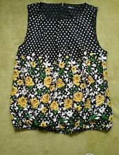 Ladies size 14 M&Co Blouse Lovely Floral Spotty Sleeveless Top