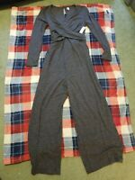 Nwt Womens Old Navy Maternity Gray Jumpsuit Size S
