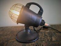 Steampunk Industrial Vintage Fireman Homelite  Spotlight Table  Shop Garage Lamp