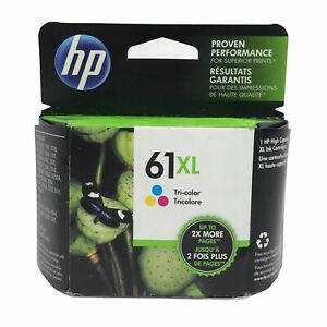 HP 61XL High Yield Tri-color Genuine Ink Cartridge - Exp April 2016 - New/Sealed