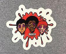 Baker Skateboards Sticker 3.5in 3 guys red NOS si