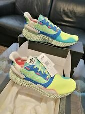 """Adidas ZX 4000 4D """"HI-RES YELLOW / LINEN GREEN """" Limited Edition sizes 8,9,10 uk"""