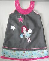süße Designer Tunika Kleid Rock 104 110 kleine Fee Elfe Sterne Hängerchen Unikat