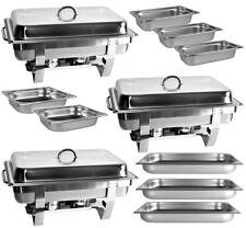 Set 3x chafing Dish rifiuti alimentari più caldo + 8x alimentazione contenitore 2x gn1/2+3x gn1/3 3x gn1/1