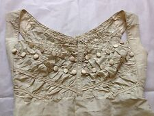 Regency c. 1820 remnant part-gown silk with beautiful bodice from own collection