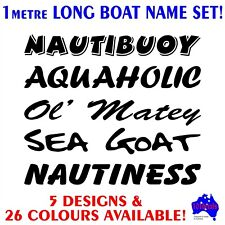 1mtr Tinny,runabout,centre console fishing boat funny name decals stickers set!