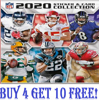 PANINI NFL 2020 STICKER COLLECTION  #251-500 SINGLE STICKERS Buy 4 Get 10 Free!