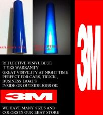 "24 "" x  Feet Blue 3M™  Reflective Roll  Vinyl Adhesive Cutter Sign 7 years"