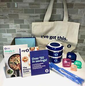 Weight Watchers WW Kickstart Starter Kit with Lunchbox Tote Cookbook & More NEW