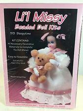 NEW Vintage Li'l Missy Beaded Doll Kits  SLEEPYTIME 513 - Lil Girl w/ Bear 13390