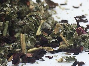 Raspberry , Marshmallow, Hibiscus flowers 75g ORGANIC Herbal tea infusion blend