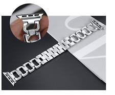 elegantes Armband für Apple Watch 38mm Edelstahlarmband Gliederarmband silber
