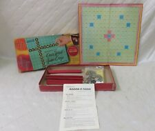 Score-a-Word Board Game Scrabble Tiles Solitaire Crossword 1950s Party Family