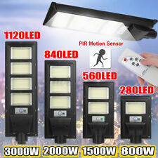 3000W LED Solar Powered Street Wall Light Garden Lamp PIR Motion Sensor + Remote