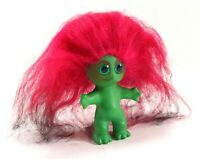 Vintage 1964 L. Khem Green Body Moon Goon Doll w/ Pink Hair & Green Eyes Figure