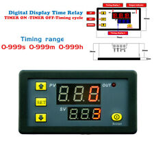 Timing Delay Relay Module DC 12V 20A Cycle Timer LED Digital Dual Display 0-999H