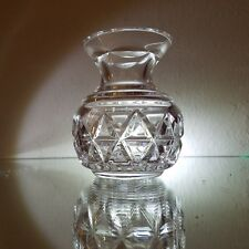 """WATERFORD Crystal Giftware Bud / Violet Vase 4"""" Tall - Signed #2"""