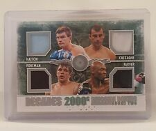 Tarver Foreman Hatton Calzaghe 2011 Ringside 2000's Decades Boxing Card