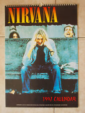 CALENDARIO OFFICIAL CALENDAR NIRVANA 1997 Vintage Poster Photo Kurt Cobain Grohl