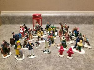 24 piece Christmas/Winter Village figurine lot