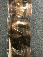 Labeh Clip In Hair Extensions Human Hair Chorcolate Brown To Caramel Blonde Clip