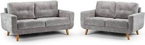 Sofa - New Modern Aurora 3+2, Large Corner, Armchair - Grey Fabric