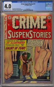 CRIME SUSPENSTORIES #11 CGC 4.0 EC COMICS