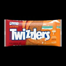 TWIZZLERS LICORICE ORANGE CREME POP FILLED TWISTS, 11 ounce bag, FAST Shipping