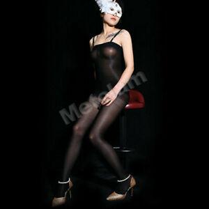 Women's 70D Super Elastic Body Stockings Shiny Glossy Bodysuit Pantyhose Tights