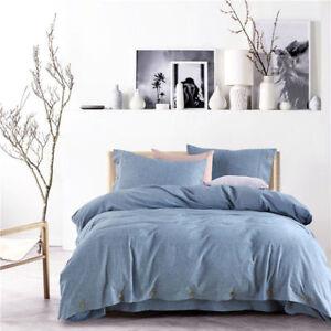 Bedding set 4pcs duvet cover flat sheet pillow shames Washed cotton & Linen set