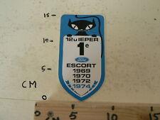 STICKER,DECAL FORD ESCORT 1E 1969,1970,1972,1974 12 UUR IEPER ZWARTE KAT