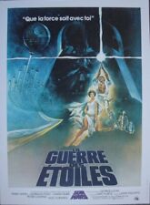 STAR WARS Affiche Cinema ROULEE 53x40 Movie Poster R1990 La Guerre des Etoiles