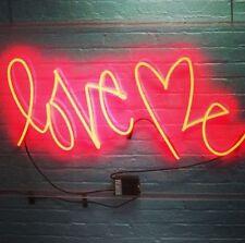 "LOVE ME Home Room Lamp Sofa LED Bike Harley NEON Light Sign 12""x7"" LOVER RED"