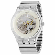 Swatch Stainless Steel Silver Case Wristwatches