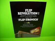 RALLY GIRL 1966 Original Flipper Game Pinball Machine Promo Sales Flyer RARE