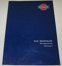 Werkstatthandbuch Ergänzung Nissan Urvan E24 / E 24 Stand Juni 1994!