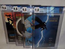 Batman The Dark Knight Returns #1-4, #1-3 CGC 9.8 #4 CGC 9.6 1st prints white pg