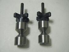 """1 1/4""""-Two hole pin-Stainless- 3/8-16 Quick knobs."""
