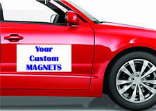 Custom Company Personalized Message Phone Car Door Magnets Magnetic Pair Of 2