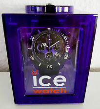 NEU ICE-WATCH ORIGINAL CH.KPE.BB.S.12 CHRONO BIG PRINCE BLACK PURPLE UNISEX Uhr