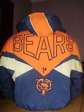 VINTAGE CHICAGO BEARS PRO PLAYER WINTER JACKET PARKA large with BACK LOGO