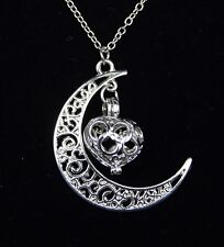 Women's 925 silver plated moon and star pendant necklace Jewellery