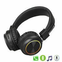 Wireless Headphones BT Headset Foldable Noise Cancelling Over Ear W/ Mic