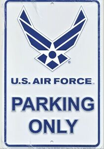 US Air Force Parking Only Metal Sign USAF Embossed Aluminum USA Armed Forces New