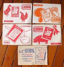 + Lot 5 buvards publicitaires pour Liebig (soupe, potage...) +