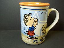 Peanuts coffee mug LINUS 3 pointer! basketball Gibson 10 oz