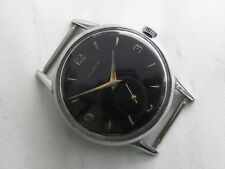 Vintage Zenith Cal 126 Black Sub Second Dial Swiss Made 1950`s