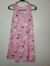 New with Tags Wonder Nation Girls Dress XL Plus 14-16 Pink Unicorns Rainbows