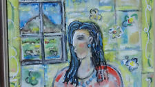 """IVAN RANE Figurative abstact  Oil on Canvas """"Woman At the Taos Window"""""""